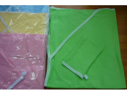 Пеленка с капюшоном и рукавичкой-арт: 9-05